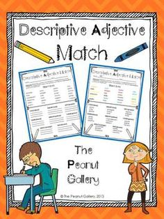 FREEBIE- This activity works well for practicing descriptive adjectives, synonyms, dictionary skills, and thesaurus skills. Students must match descriptive adjectives with their synonyms. When they find the matches, students write the synonyms and cross them off with specific colors in the word bank.
