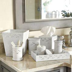 Cloey Marble Bath Accessories by Ballard Designs