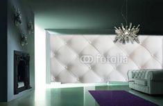 Przepiękna fototapeta 3d pikowana ściana daje efekt niezwykle eleganckiego wnętrza. Można zastosować w salonie jak i w sypialni jako wezgłowie łóżka. Wiejec pięknych tapet na naszej stronie www.studio-dekoracji.com.pl Quilted Leather, Leather Sofa, Cover