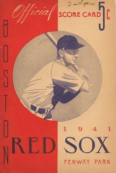 1941 Boston Red Sox Program