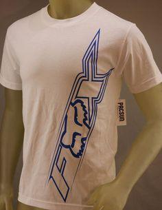 Fox Racing white T-shirt with blue logo