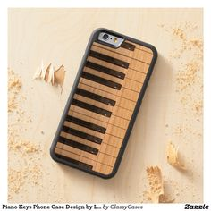 Piano Keys Phone Case Design by Leslie Harlow