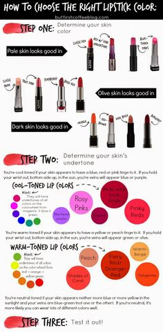 Choosing the right lipstick color (there's some science involved!)