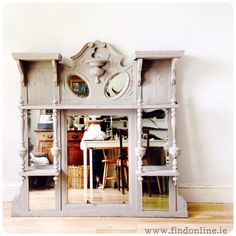 This item has been painted in French Linen Annie Sloan Chalk Paint ™. Due to its age there is some wear. Furniture Projects, Furniture Makeover, Furniture Decor, Painted Furniture, Annie Sloan French Linen, Distressing Chalk Paint, Shabby Chic Shelves, Distressed Painting, Annie Sloan Chalk Paint
