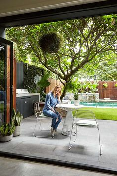 Having a pool sounds awesome especially if you are working with the best backyard pool landscaping ideas there is. How you design a proper backyard with a pool matters. Backyard Trees, Backyard Shade, Backyard Privacy, Shade Garden, Backyard Patio, Concrete Backyard, Concrete Floor, Outdoor Areas, Outdoor Rooms