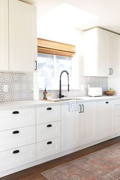 Needing to reno your kitchen or bathroom on a budget and thinking of going the IKEA route? Well today we are giving a 10 Ikea Kitchen Design, Ikea Kitchen Cabinets, Rustic Kitchen Design, Kitchen Cabinet Design, Kitchen Furniture, Kitchen Decor, Ikea Kitchens, Ikea Sektion Cabinets, White Ikea Kitchen