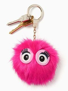 Kate Spade Monster Pouf Faux Fur Bag Charm In Pink Confetti Kate Spade, Nordstrom, Leather Keychain, Girly Things, Pretty In Pink, Faux Fur, Bags, Key Chains, Confetti