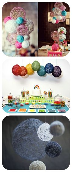 50 Beautiful Yarn Craft Tutorials {yarn wreaths, pom poms, decor}. A lot of these pics are pinned, but this one has directions. Yay!