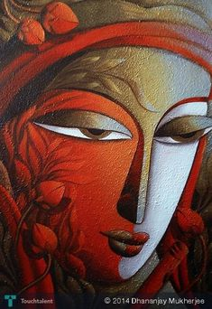 KRISHNA #Creative #Art #Painting @touchtalent.com