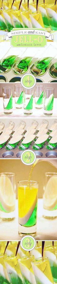 Sencilla presentación de gelatina con licor para descrestar a los invitados en un evento. #BebidasFiestas