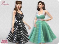 Sarah dress RECOLOR 2 by Colores Urbanos at TSR • Sims 4 Updates