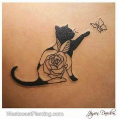 Cool idea for a cat tattoo by Jayson