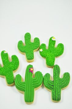 You will receive one dozen Cactus Cookies approximately 3 by 2 in. The cactus cookies will have different designs (shown in the pictures). These made from scratch vanilla/almond cookies will melt in y