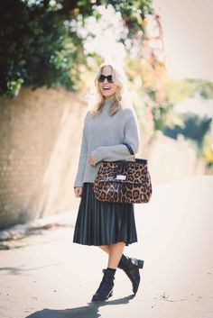 How To Style A Midi Skirt By Sweatshirts And Dresses