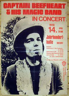 Captain Beefheart 1972 - tourposter 60 x 84cm