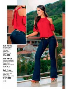 Yakaré Viche 2017 Sexy Outfits, Fall Outfits, Cute Outfits, Vestidos Nancy, Moda Chic, Casual Tops For Women, Bell Bottoms, Bell Bottom Jeans, Street Style