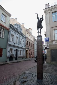 Sculpture in Uzupis, Vilnius, Lithuania