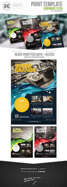 Corporate Flyer Template PSD. Download here: http://graphicriver.net/item/corporate-flyer/15801076?ref=ksioks