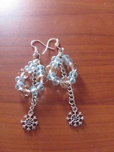 earring with snowflakes