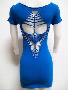 SMALL Womens / Juniors Mini Dress BLUE MAIDEN by SolAuraDesigns