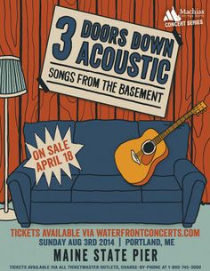 3 Doors Down Acoustic in , Maine - August 3, 2014 at Maine State Pier - Waterfront Concerts