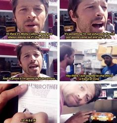 Misha shipping...stuff...to Jensen.