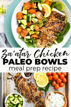 This paleo meal prep recipe for Za'atar Chicken with Cucumber Raita makes a paleo dinner that's packed with flavor and anti-inflammatory benefits! It's easy to make and so delicious! Paleo Meal Prep, Paleo Dinner, Paleo Meals, Paleo Food, Keto Foods, Clean Eating, Healthy Eating, Healthy Lunches, Post Workout Food