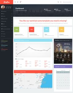 Responsive HTML5 Dashbords with Flat Design in 2014
