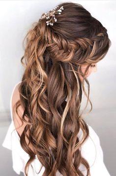 Diy Wedding Hair, Wedding Hair Down, Wedding Hair And Makeup, Diy Bridal Hair, Hairstyle Wedding, Hairstyle Braid, Black Hairstyle, Diy Hair, Bridal Makeup