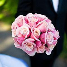 Ramos de novia románticos de color rosa