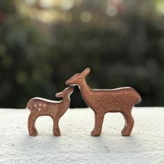 We are in love with this momma deer and her fawn! The details are flawless, all the way down to the wood grain. These wooden toys were created by @thesylvanwolf and finished with Pure Tung Oil. The deer make an adorable toy for any little one to explore their world with. For wooden children's items, Pure Tung Oil is a great choice due to it being nontoxic, hard drying, and chemical-free. It soaks into the wood bringing out the natural beauty of the wood grain that typically isn't seen. Natural Honey, Natural Beauty, Baby Safe Paint, Pure Tung Oil, Refinish Wood Floors, Real Milk Paint, Wood Finishing, How To Make Oil, Wood Oil