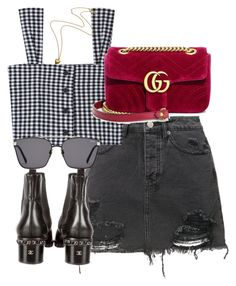 """""""Untitled #4279"""" by theeuropeancloset ❤ liked on Polyvore featuring Ksubi, Chanel and Gucci"""