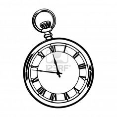 Old fashioned antique pocket watch digital image download for Stop watch tattoos