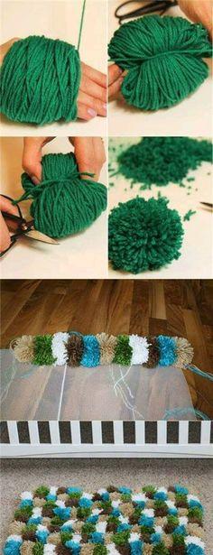 废物利用 地毯 DIY 手作
