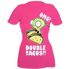 Invader Zim Gir Double Tacos Girls T-Shirt