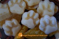 Orange Frosty Paws treats from Sugar's blog