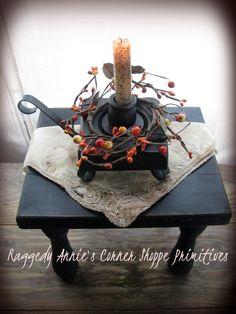 Primitive Candle Holder Gathering ~ Sold :)