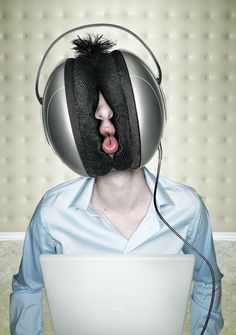 Headphones - Incredible Photo #Manipulation works based #Adobe #Photoshop found at www.webneel.com pinned by www.BlickeDeeler.de