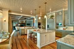Love the ceiling!!!!  Great Room Kitchen
