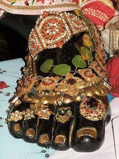 Bejewelled feet of Narasimha, the man-lion avatar of Vishnu