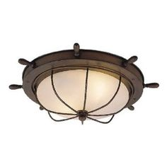 Vaxcel Orleans Nautical Outdoor Ceiling Light - in. Antique Red Copper - It just makes sense that the Vaxcel Orleans Nautical Outdoor Ceiling Light - in. Antique Red Copper would be designed for damp environments. Eclectic Ceiling Lighting, Nautical Ceiling Light, Nautical Lighting, Outdoor Ceiling Lights, Ceiling Light Fixtures, Outdoor Wall Lighting, Lighting Ideas, House Lighting, Cottage Lighting