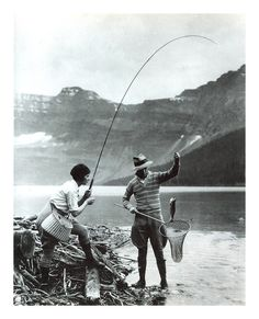 Vintage fishing pic - The Dotted Line from L.L.Bean Signature