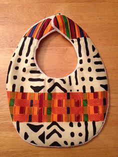 Kente Cloth Baby Bib by alitamarie on Etsy, $6.50