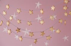 Star cookie garland - using bakers twine - could use a tiny hint of lustre to make the cookies twinkle a little