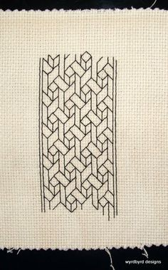 ~ How would you deconstruct this pattern and turn it into a Zentangle tangle?Blackwork ~ How would you deconstruct this pattern and turn it into a Zentangle tangle? Motifs Blackwork, Blackwork Embroidery, Cross Stitch Embroidery, Embroidery Patterns, Cross Stitch Bookmarks, Cross Stitch Borders, Cross Stitching, Cross Stitch Patterns, Zentangle Patterns