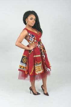 African print dresses can be styled in a plethora of ways. Ankara, Kente, & Dashiki are well known prints. See over 50 of the best African print dresses. African Dresses For Women, African Fashion Dresses, Fashion Outfits, African Women, Fashion Fashion, Ankara Fashion, African Attire, African Wear, African Style