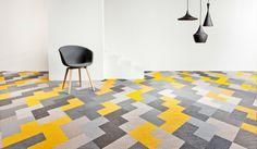 gelbe geometrische Muster Teppiche