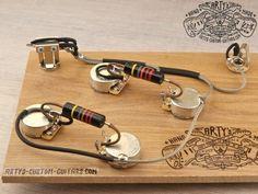 Es 335 Es 330 Prewired Kit Mit Bumble Bee Caps Customguitars Prewired Harness Es 335 Bumble Bee Prewired Kit Arty S Custom Guitars Guitare