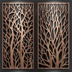Set of models of decorative partitions. Laser Cut Screens, Laser Cut Panels, Wooden Wall Design, Wood Wall Art, Gate Design, Door Design, Pattern Wall, Jaali Design, Cnc Cutting Design