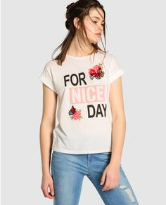 Camiseta de mujer Fórmula Joven de manga corta con print delantero